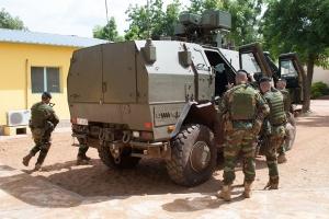 Des militaires du Bataillon ISTAR au Mali en octobre 2015 (photo Défense belge)