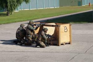 Des militaires du 29ème bataillon Logistique s'entraînant pour Vigilant Guardian (photo FB 29ème bataillon Logistique)