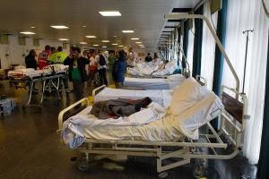 L'Hôpital Militaire Reine Astrid le jour des attentats du 22 mars (photo BE Defense)