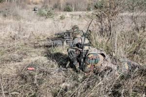 Des Lignards en exercice en Tchéquie (photo Marc Ganser / 12/13 Li)