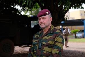 Le général de brigade Peter Devogelaere (photo EUTM Mali)