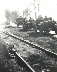 Jeeps SAS belges pendant la reconquête des Pays-Bas (Collection musée Pegasus, Diest)