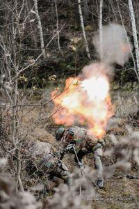 Tirs aux mortiers 81mm lors d'un exercice avec munitions réelles en Tchéquie (photo Marc Ganser / 12/13 Li