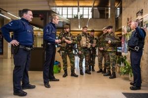 Les militaires sont sous commandement policier et répondent à une demande spécifique (photo Daniel Orban / BE Defense)